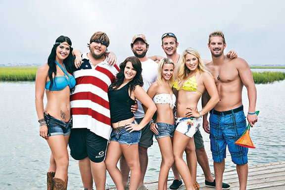 "CMT's reality show ""Party Down South"" highlights the stereotypes often associated with South Carolina, following the lives of eight beer-drinking, gun-shooting, America-loving southerners. Photo courtesy of Christopher Shane of Country Music Television."