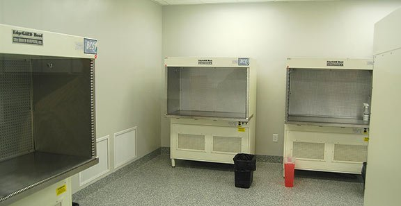 State-of-the-art work hoods like these provide sterile environments for students to learn how to perform proper Aseptic technique.