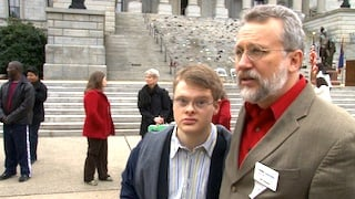 Karl and his father, WC Hoecke, attend the SC Self-Advocacy Day every year to support awareness for special needs funding.
