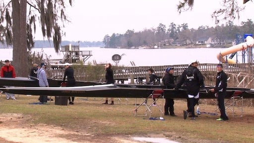 The Bowdoin College rowing team traveled south in order to get some early spring practice.