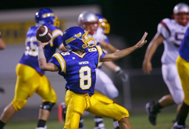 © Rhodes started his football career at Wren, then walking on to Western Carolina only to leave and risk never playing again by walking on to USC.