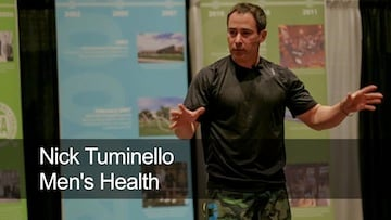 Men's Health personal trainer Nick Tuminello Talks to athletes about strength conditioning