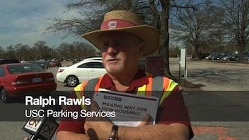 USC parking serviceman Ralph Rawls goes into detail about new parking arrangements