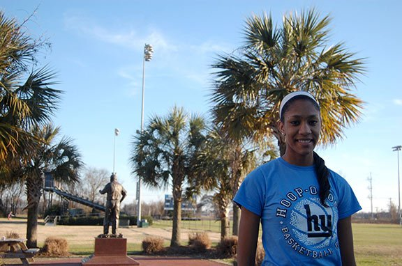 A'ja Wilson will choose between South Carolina, North Carolina, Tennessee and Connecticut on April 16. Photo by Isabelle Khurshudyan.