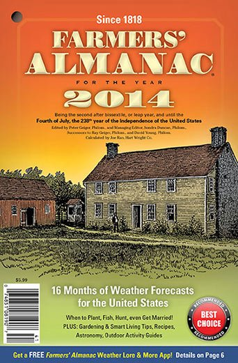 The Farmers' Almanac has been around for nearly 200 years, giving advice on when to plan events and when to plant vegetables and flowers. The almanac was one of the first to call for a nasty winter in 2014. Photo courtesy of Farmers' Almanac.