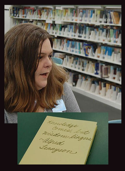 Children's librarian at the Richland Library in Columbia, Laura Rogers, has seen how beneficial cursive is to children with reading and writing disorders. By Isabelle Khurshudyan