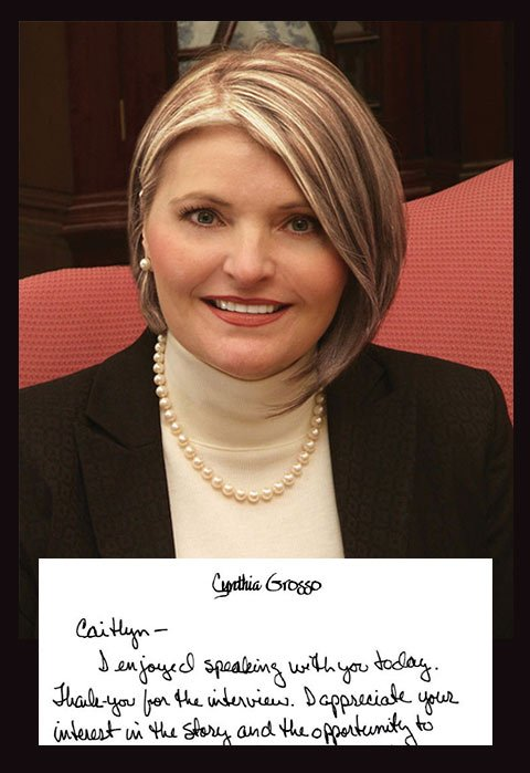 Cynthia Grosso, a Charleston etiquette expert, uses cursive regularly to write thank you notes, invitations and condolences. By Isabelle Khurshudyan