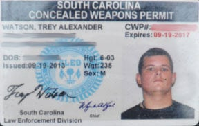 Concealed weapons carriers like Trey Watson must carry their permit on their person under the new law. Photos by Harrison Cahill