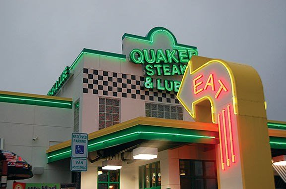 The Quaker Steak & Lube is one of many restaurants Garland Hudgins does business with. He teaches classes there and prepares them for upcoming barbecue events. The next one will be held on May 30 and 31.