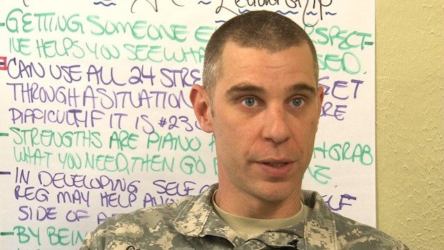 Sgt. 1st Class William Corson says that he applies skills learned in the class to his life at home.