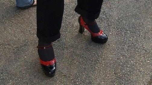 Deputy Chris Lee's person high heels