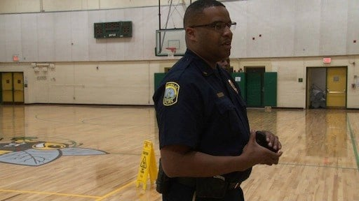 Assistant Police Chief Marlon Kelly addresses students concerns