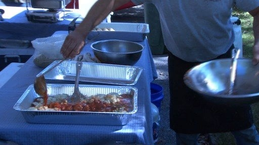Pasta, the most popular Italian food, was just one of many things you can eat at the festival