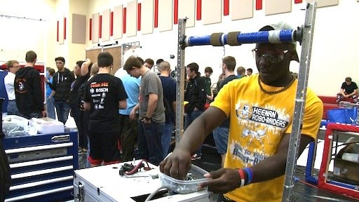Marquell Waiters is a first time robotics member for W.J Keenan High School's Robo-Raiders Team 1398.