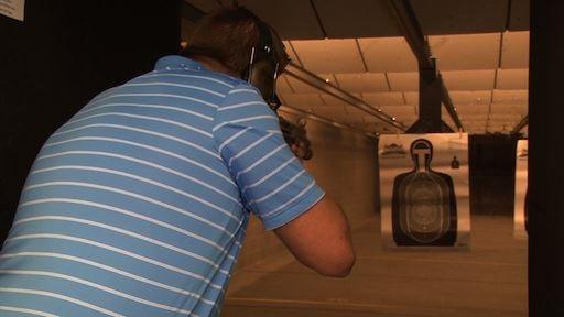 Training for a gun permit starts on the range.