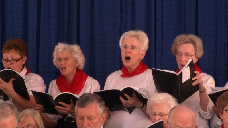 Spring Valley Baptist church sang at senior citizen day.