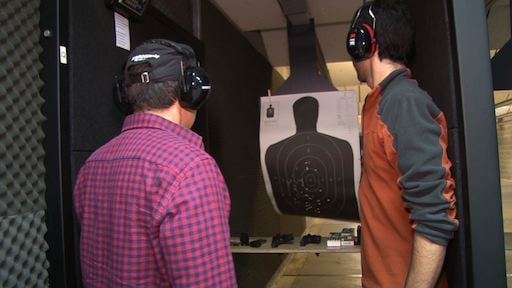 Customers get gun training at the Palmetto State Armory.
