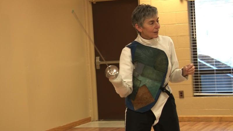 Jane Littman teaches fencing all across the Midlands.