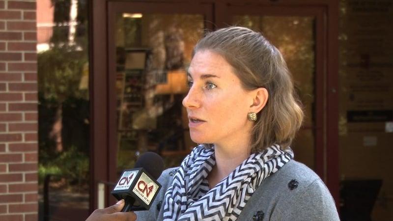 Communications Director Marjorie Duffie explains plans set by the health center