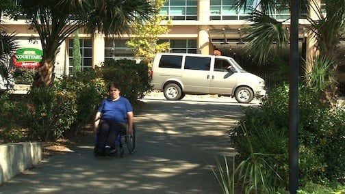 Student Disability Services offers bus transportation to class for those needing extra assistance.