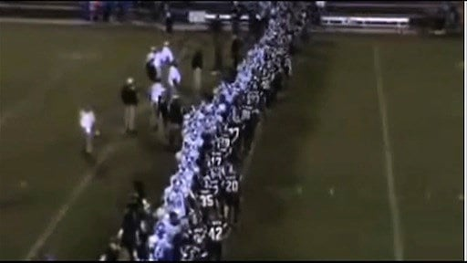 Tensions were already high as players lined up for the postgame handshake