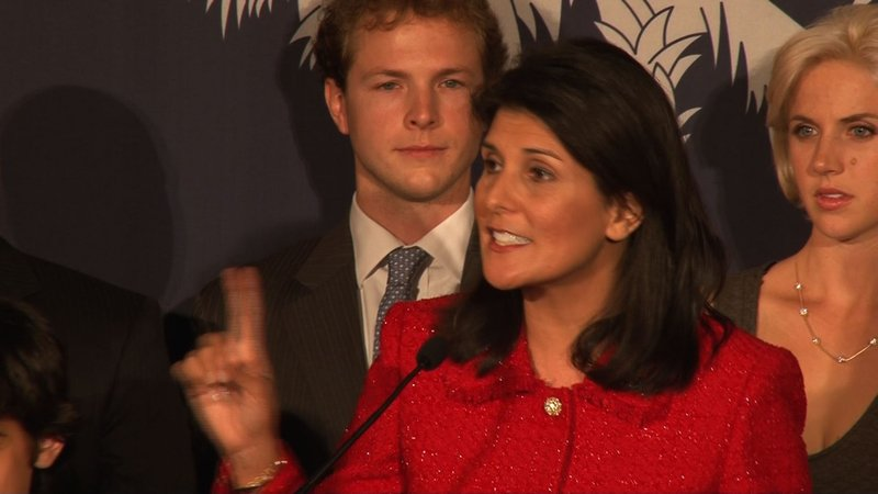 Haley says she's very excited about the future of South Carolina