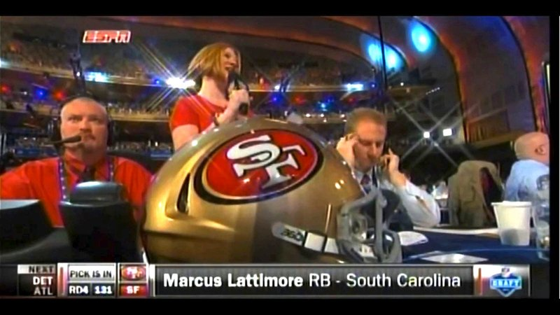 Marcus Lattimore was drafted by the San Francisco 49ers in the fourth round of the 2013 NFL draft.