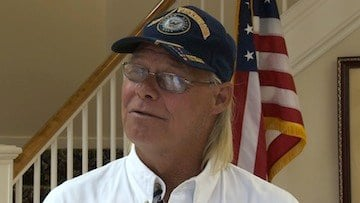 Retired Navy Veteran David Rae says he is proud to be a US Veteran