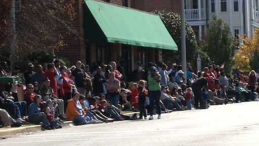 Thousands of people lined the streets on Tuesday to celebrate Veterans Day.