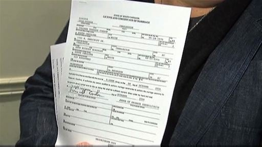 First same-sex marriage licences were issued for the first time in South Carolina yesterday