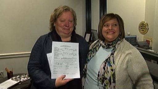 Colleen Condon and partner Nichols Bleckly is the first lesbian couple in South Carolina to recieve their marriage license