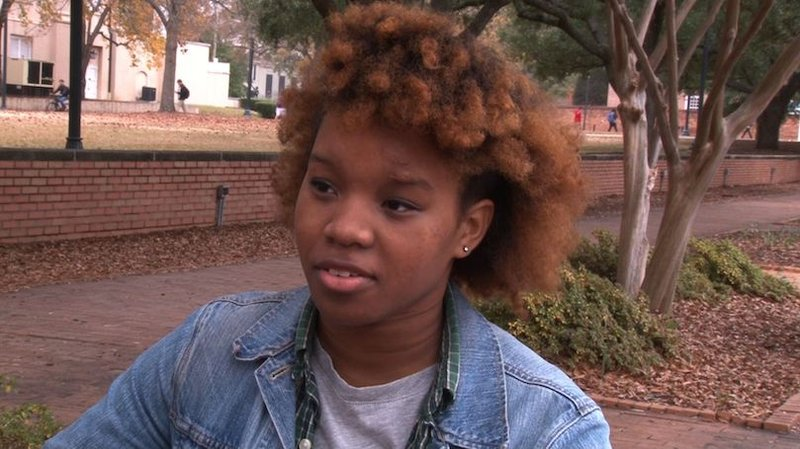 Brailey Johnson says she just cannot study at the library when there are people sitting on the floor trying to find a spot to study for their exams.