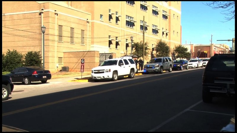 Police arrived on scene after the shooting occured at the Public Health School.