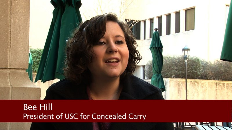 President of USC for Concealed Carry, Bee Hill, is for the proposed bill.