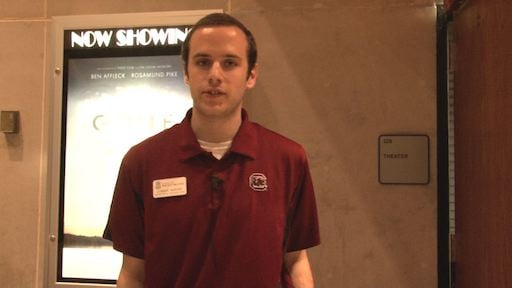 Connor Morvey, Russell House Employee that helped coordinate the watch party.