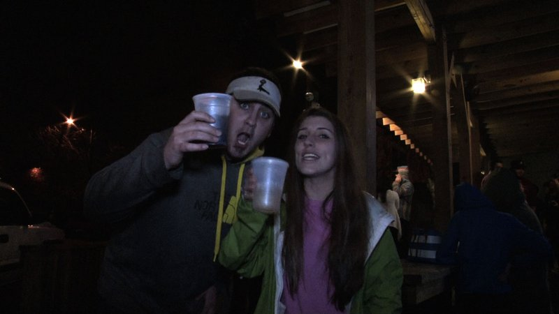One dollar drinks are the main attraction for college students in the 5 points area.