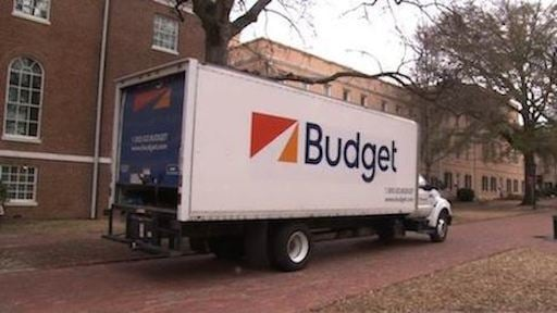 Trucks will help move collections across campus to their new locations.