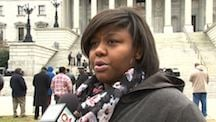 Ariel Wilkins, a South Carolina State student who is concerned about her future.