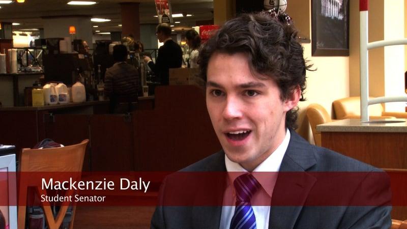 Student Senator Mackenzie Daly says the gates should be locked to keep students safe.