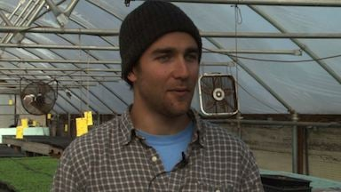 Eric McClan owner of City Roots says he greenhouses helps him plant year-round.
