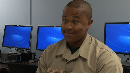 Cadet Darius Jacobs-Caldwell says he knows he will make his family proud when they see how much he has achieved.