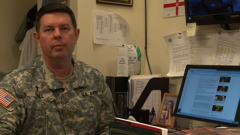 The Ft. Jackson Installation Family Life Chaplain Major Matthew Hall is very familiar with PTSD and has treated several soldiers for symptoms.