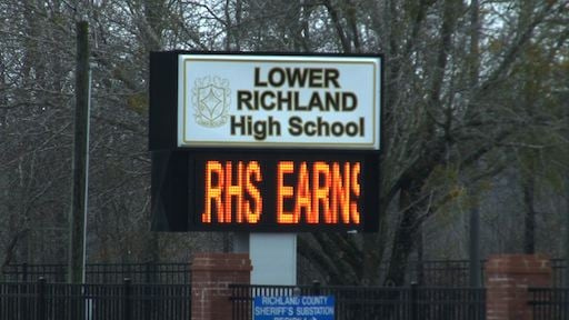 Lower Richland High School was on lockdown after the stabbing of a student occured.