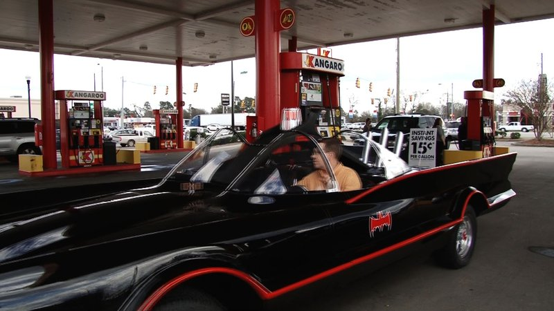 Lanes first Batmobile is based on the 60's TV show and took him seven years to complete