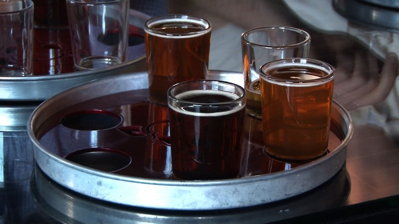 Sample flights are provided with your purchase of a Brew Bus ticket.