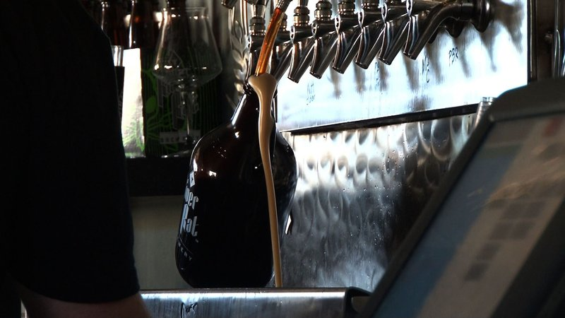 River Rat Brewery showed the group how they bottle their Craft Beers.