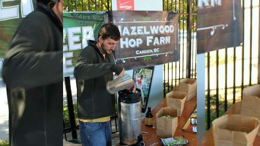 Rodgers' grows, sells, and makes his own beer using hops that he grows in South Carolina.