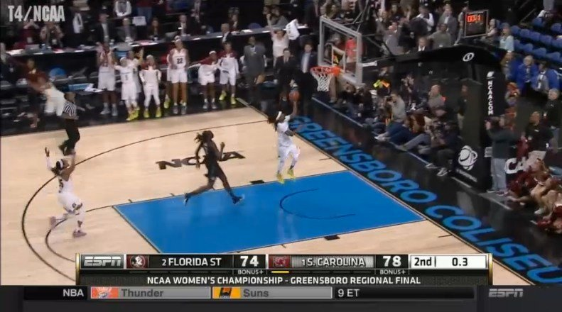 Khadijah Sessions scored the final shot for the historic game.