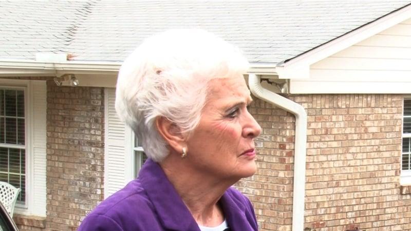 Springdale resident Sue Childress explaining how Springdale doens't benefit her.