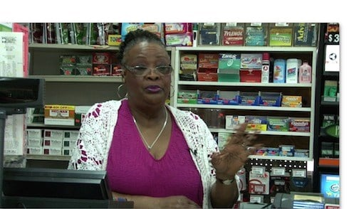 El Cheapo Clerk Georgina Green says she has people try to get money for their food stamps often.